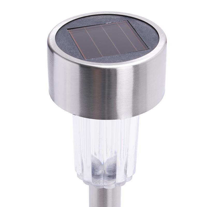 10x led solar leuchten edelstahl solarleuchte solarlampe. Black Bedroom Furniture Sets. Home Design Ideas