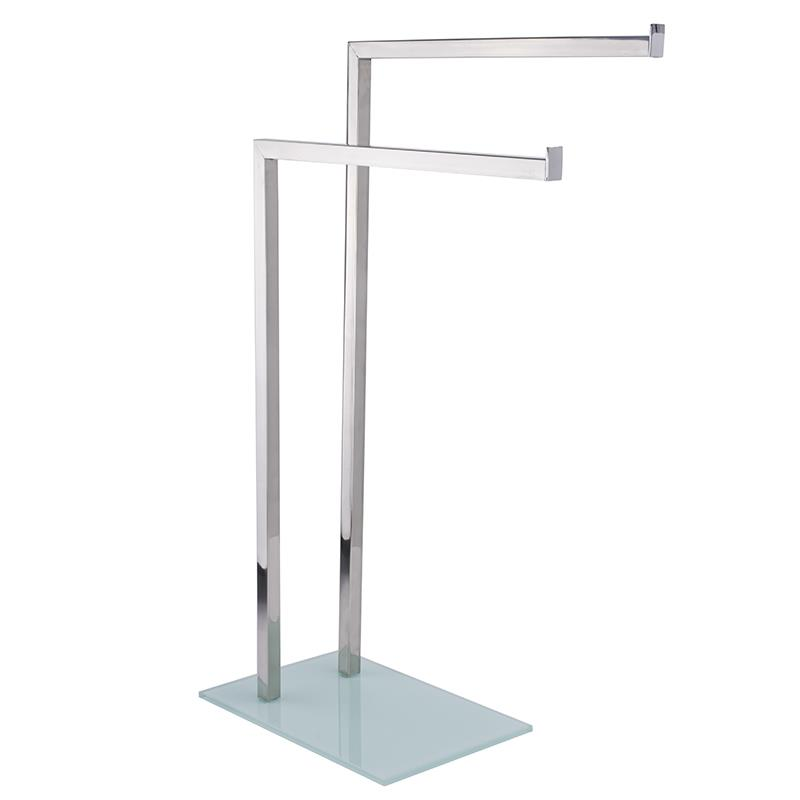 Towel Stand Rack Bathroom Free Standing Holder Hanger