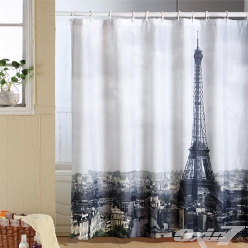 Duschvorhang Textil Wannenvorhang Badewannenvorhang 180x200cm Inkl. Ringe Modern