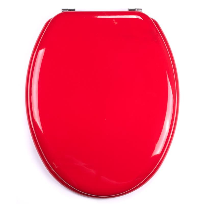 Wc Sitz Mosaik Rot : WCSitz Toilettendeckel Rot aus MDF mit Edelstahl Scharnieren