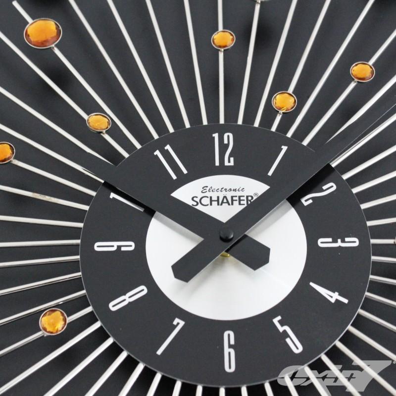 Moderne Design Wanduhr, Uhr Diamant Glitzer 50cm Durchmesser  eBay