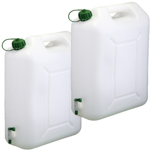 2x-Wasserkanister-Trinkwasser-Kanister-20L-Hahn-NEU